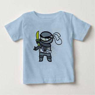 忍者の赤ん坊の綿のTシャツ ベビーTシャツ