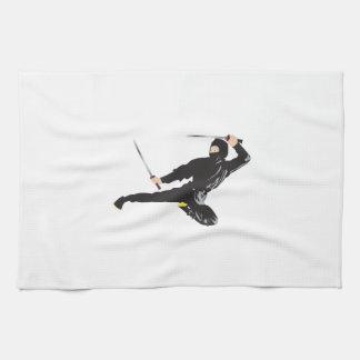 忍者の蹴り キッチンタオル