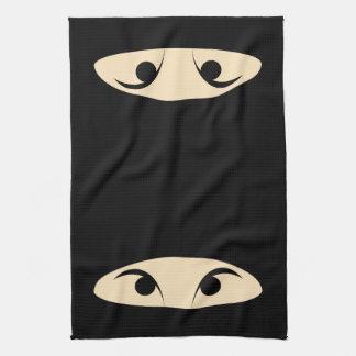 忍者の顔 キッチンタオル