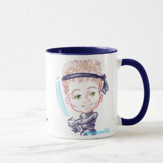 忍者の風刺漫画のマグ12a マグカップ