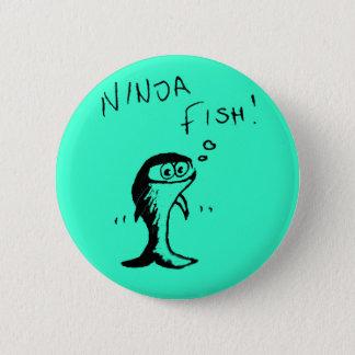 忍者の魚ボタンのバッジ 5.7CM 丸型バッジ