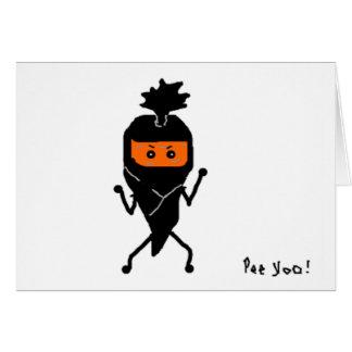 忍者のNinjinの挨拶状 カード