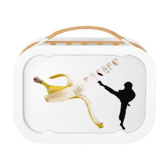 忍者をスライスしているバナナ ランチボックス