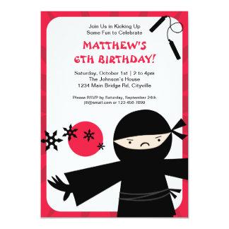 忍者力の赤の招待状 カード