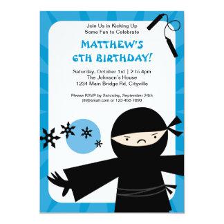 忍者力の青の招待状 カード