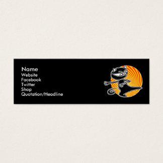忍者猫社会的な媒体カード スキニー名刺