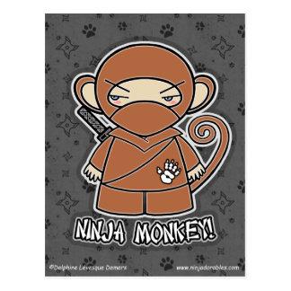 忍者猿! 郵便はがき ポストカード
