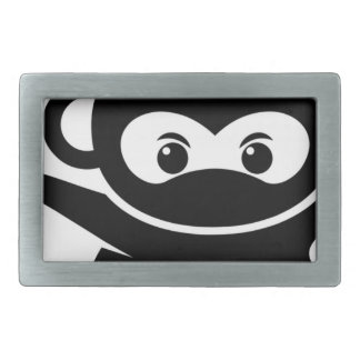 忍者猿 長方形ベルトバックル