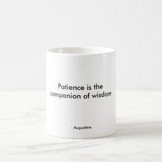 忍耐は知恵の友達です コーヒーマグカップ