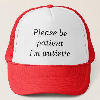 忍耐強いが私あります自閉症があって下さい(カスタマイズ可能な100%) キャップ