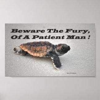 忍耐強い人の激怒を、用心して下さい ポスター