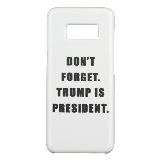 """""""忘れないで下さい。 切札はです大統領""""。 Samsungは包装します Case-Mate Samsung Galaxy S8ケース"""