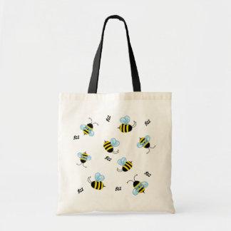 忙しいぶんぶんうなることは蜂のトートバックをブンブンいう音 トートバッグ