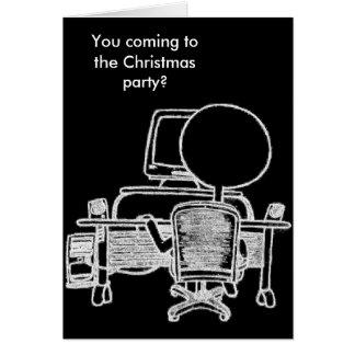忙しいコンピュータ人のクリスマスカード カード