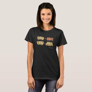 忙しい働く女性のBlkのTシャツ(前部のデザイン) Tシャツ