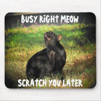 忙しい右の猫の鳴き声 マウスパッド