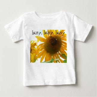 、忙しい忙しい、明るい蜂-忙しい ベビーTシャツ