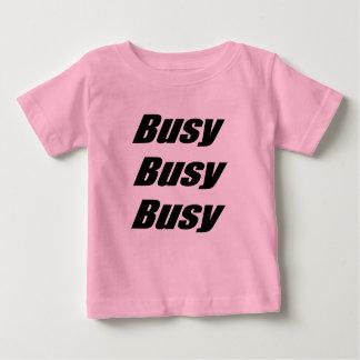 忙しく忙しく忙しい黒 ベビーTシャツ