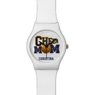 応援のお母さんのバスケットボールの腕時計 腕時計