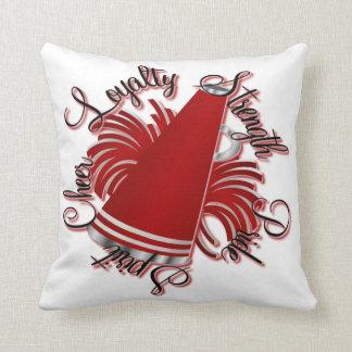 応援の赤と白の質のカスタマイズ可能な枕 クッション