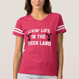 応援の車線のおもしろいなチアリーティングの生きている生命 Tシャツ