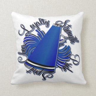 応援の黒くおよび青の質のカスタマイズ可能な枕 クッション