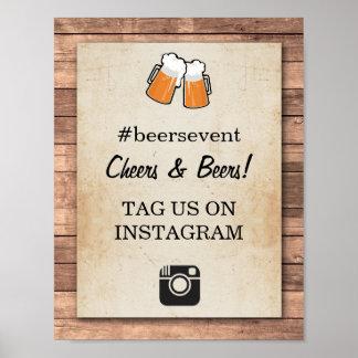 応援及びビールInstagramの印の写真のイベントのパーティー ポスター