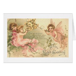忠実なバレンタインの花の妖精 カード