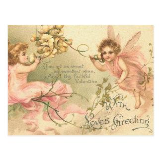 忠実なバレンタインの花の妖精 ポストカード