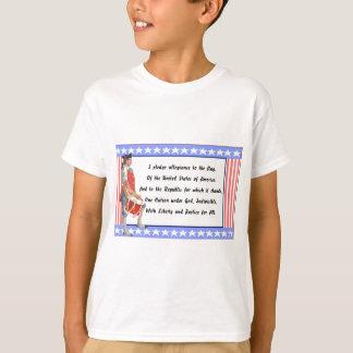 忠誠のロゴの愛国者そして帖当 Tシャツ