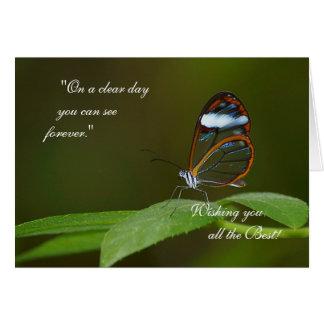 """""""快晴日で""""のGlasswingの蝶デザイン カード"""