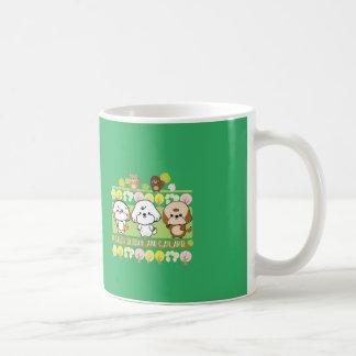 快活な友人のデイジーおよびカラメル コーヒーマグカップ