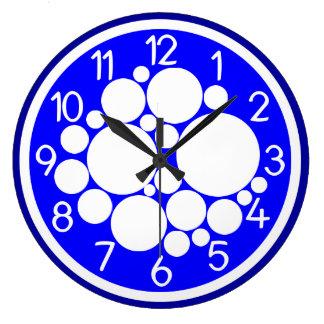 快活な青の柱時計 ラージ壁時計