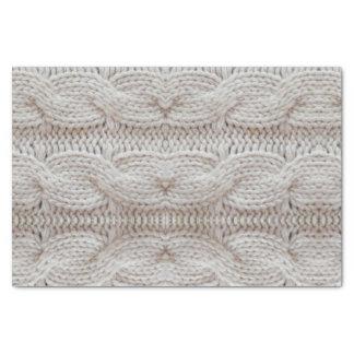 快適なセーターのプリントの銀および白 薄葉紙