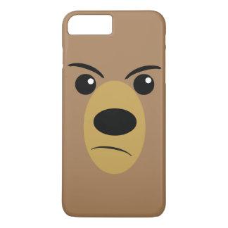 怒っているくまの顔 iPhone 8 PLUS/7 PLUSケース