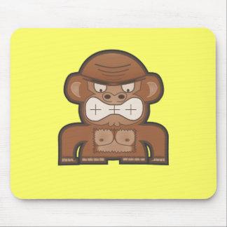 怒っているろば猿-カスタマイズ可能な背景 マウスパッド