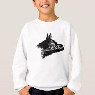 怒っているオオカミのスケッチ スウェットシャツ