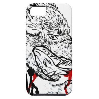 怒っているオオカミのスケッチ iPhone SE/5/5s ケース