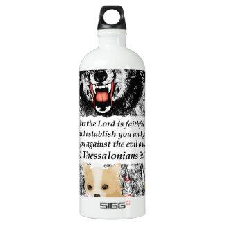 怒っているオオカミのチワワ-恐れないで下さい- #1 Faithfulne ウォーターボトル