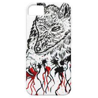 怒っているオオカミSketch2 iPhone SE/5/5s ケース