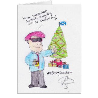 怒っているクリスマス カード