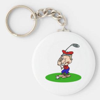 怒っているゴルファー キーホルダー