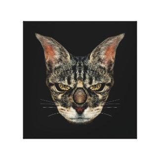 怒っているサイボーグ猫 キャンバスプリント