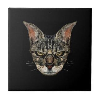 怒っているサイボーグ猫 タイル