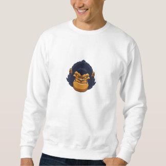 怒っているサルのゴリラの顔 スウェットシャツ