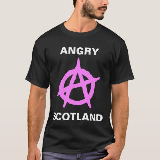 怒っているスコットランド Tシャツ
