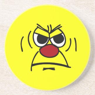 怒っているスマイリーフェイスGrumpey コースター