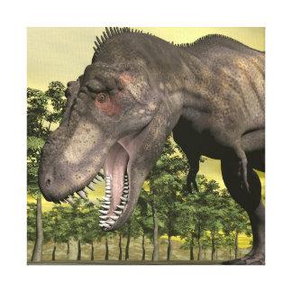 怒っているティラノサウルス・レックス- 3Dは描写します キャンバスプリント