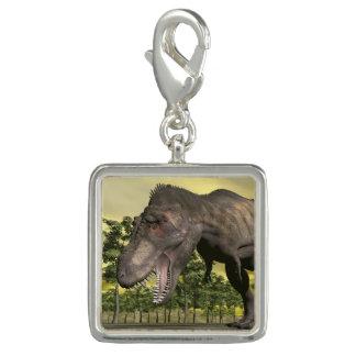 怒っているティラノサウルス・レックス- 3Dは描写します チャーム