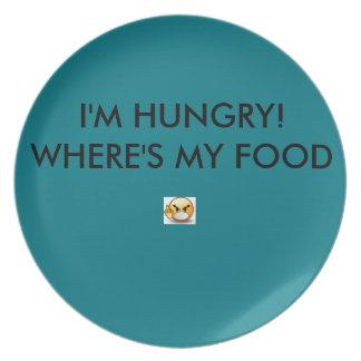 怒っているディナー用大皿-ティール(緑がかった色)色 プレート